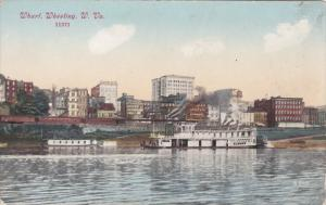 WHEELING, West Virginia, 1900-1910's; Wharf, Boats