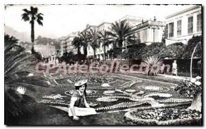 Old Postcard Menton gardens during the holidays lemon