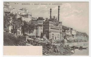 Great Mosque of Aurunzebe Benares India 1907c postcard