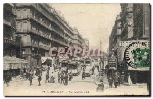 Postcard Old Street Marseille Noailles