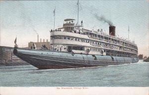 Whaleback Steamer CHRISTOPHER COLUMBUS , Chicago , Illinois , 00-10s ; #7
