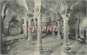Old Postcard Le Puy en Velay (Haute Loire) Interior of St Michael Rock Chapel
