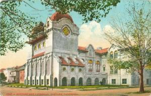 Scottish Rite Cathedral Oakland California 1921 Postcard