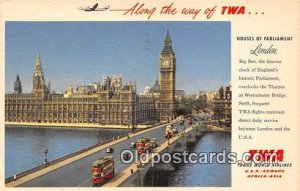 Trans World Airlines Houses of Parliament, London 1955