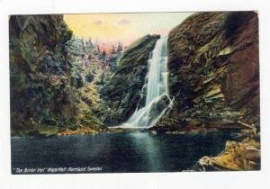 The Bridal Veil Waterfall, Norrland,  Sweden, Pre-1907