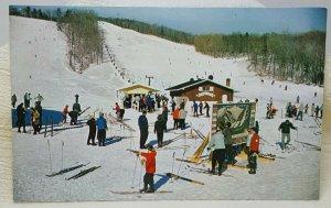 Spruce Peak Ski Area Mt Mansfield Stowe Vermont Vintage Postcard
