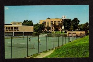 MA Tennis Courts State College of SALEM MASS Postcard