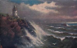 TUCK 781: Isle of Man, England, 1909 ; Lighthouse