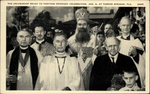 Tarpon Springs FL Archbishop Epiphany Celebration Postcard