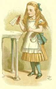 Drink Me Bottle Alice In Wonderland 1890 Victorian Book Postcard