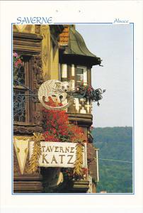 France Saverne L'enseigne de la Taverne Katz