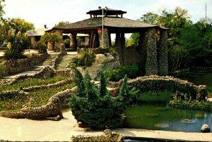 Texas San Antonio Sunken Gardens Showing Pagoda Or Tea House