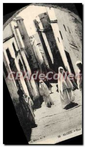 Postcard Old Algiers Street Ben Ali