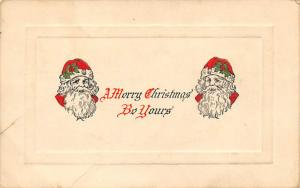Santa Claus Post Card Old Antique Vintage Christmas Postcard Damaged Writing ...