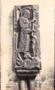 Postcard Real Photo BRISTOL CATHEDRAL Saxon Carving, The Harrowing of Hell