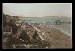h2152 - Isle of Wight - View of Shanklin Bay & Pier from Rylstone - postcard