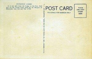 [ Curt Teich ] US NY Fort Ticonderoga - Entrance Lodge (Color)