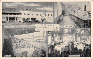 Miami Florida Capt. Tom's Restaurant Vintage Postcard JF686340