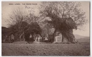 Sussex; Lewes, The Priory Ruins PPC, Unposted, By Photochrom, Dated 1916