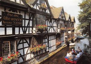 Canterbury Weavers Houses and the River Stour at King's Bridge