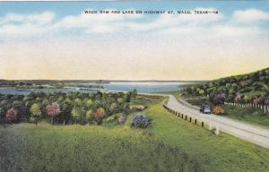 Waco Dam and Lake on Highway 67, Waco, Texas, 30-40s