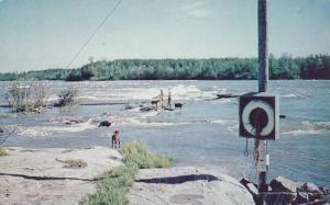 Manitoba Rapids at the Winnipeg River looking from Sharpe's Point in Pine Fal...