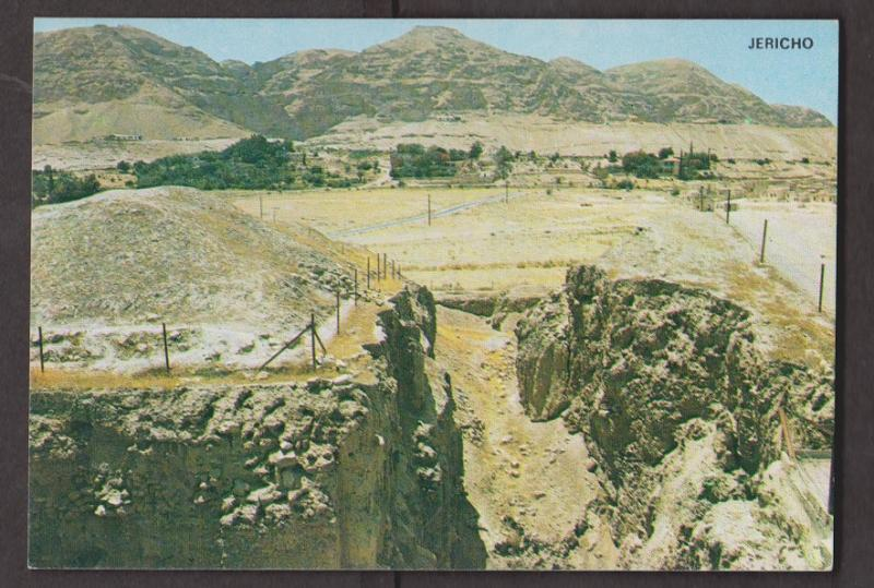 Ancient walls of Jericho & Mountain of Temptation - Unused 1970s