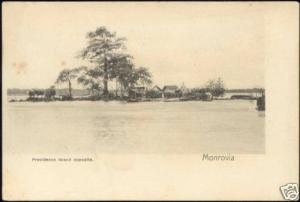 liberia MONROVIA, Providence Island Opposite (ca. 1899)