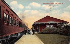 D11/ Fort Plain New York NY Postcard 1921 Railroad Depot Station