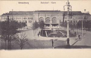 Bahnhof - Gare, Strassburg (Bas Rhin), France, 1900-1910s
