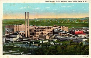 South Dakota Sioux Falls John Morrell & Company Packing Plant Curteich