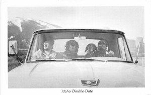 F72/ Idaho Postcard c1950s Comic Spud Power Double Date Car 1