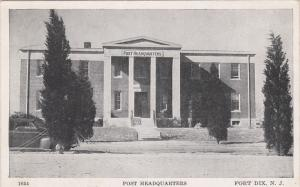 Post Headquarters, Fort Dix, New Jersey, 1910-1920s