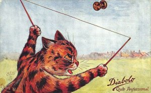 Louis Wain Cats Quite Professional Raphael Tuck #9563 Diabolo Postcard