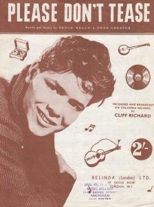 Please Dont Tease Cliff Richard 1960s Sheet Music