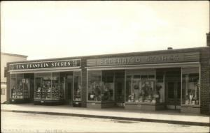Waterville MN Ben Franklin & Federated Stores Storefronts Real Photo Postcard