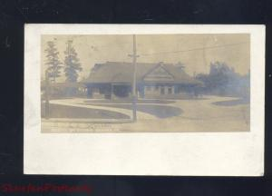 RPPC BEAVER PENNSYLVANIA RAILROAD DEPOT TRAIN STATION OLD REAL PHOTO POSTCARD