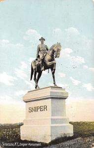 Syracuse New York~Civil War Colonel Sniper~Equestrian Monument~1909 Postcard