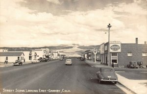 LP27 Granby Colorado Postcard RPPC Street Scene