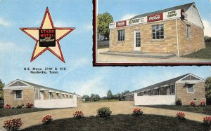 LP46 Nashville Tennessee Postcard Roadside Starr Motel Coca Cola Sign