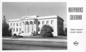 Frasher Independence California Inyo County Courthouse RPPC Photo Postcard 13036