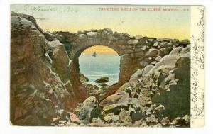The Stone Arch on the cliffs, Newport, Rhode Island, 1906 PU