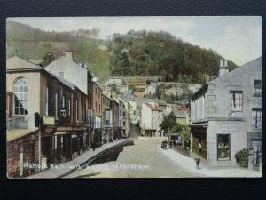 Derbyshire MATLOCK BATH with HEIGHTS OF ABRAHAM c1908 Postcard