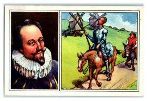 Cervantes, Spain, Famous World Poets, Echte Wagner German Trade Card *VT31T