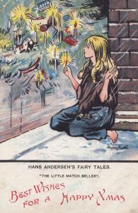 Hans Christian Andersen Fairy Tales The Match Seller Antique Childrens Postcard