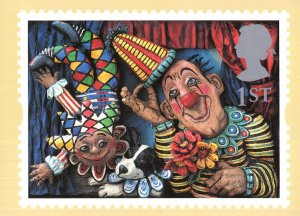 Circus Clowns Emily Firmin Justin Mitchell Painting PHQ Postcard