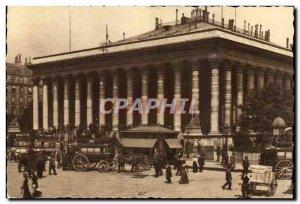 Old Postcard Paris Place de la Bourse