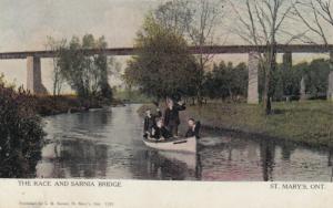 ST. MARY'S , Ontario , Canada , 1912 ; Race & Sarnia Bridge