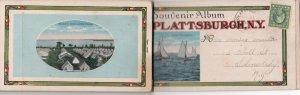 PLATTSBURGH , New York, 1900-10s ; 10 Postcard Booklet