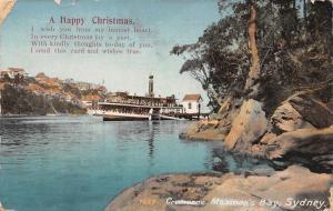 Australia Sydney, Mosman's Bay, Cremorne ferry wharf ships, Happy Christmas!